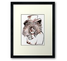 woman with Hat Framed Print