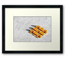 Bankers blocks. Framed Print