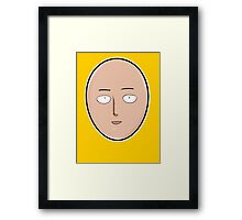 <ONE PUNCH MAN> Siatama's Face Framed Print