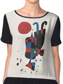 Dog in Front of The Sun Chiffon Top