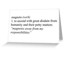 To Magneto Greeting Card