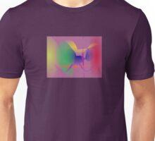Purple Gray Unique Abstract  Unisex T-Shirt
