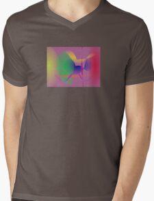 Purple Gray Unique Abstract  Mens V-Neck T-Shirt