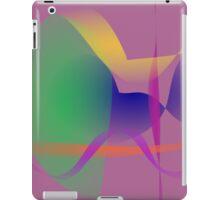 Purple Gray Unique Abstract  iPad Case/Skin