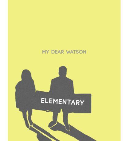 Elementary (Joan & Sherlock) Minimalist Sticker