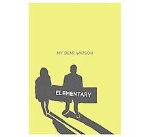 Elementary (Joan & Sherlock) Minimalist Photographic Print