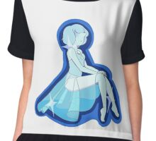 Cutie Blue Pearl Chiffon Top