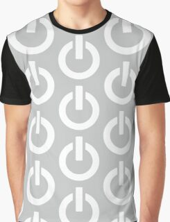 Steel Power Button Graphic T-Shirt