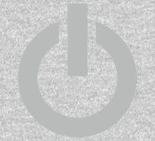 Steel Power Button One Piece - Long Sleeve