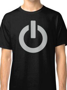 Steel Power Button Classic T-Shirt