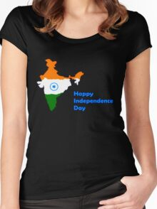 Tee t-shirt, 15th August-India independence Day!!! Women's Fitted Scoop T-Shirt