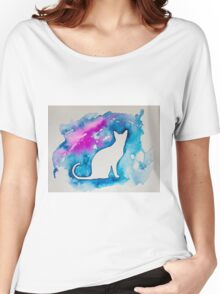 Kitty in blue  Women's Relaxed Fit T-Shirt