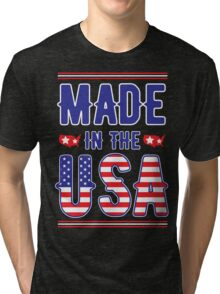 Made in the USA America independence day 4TH July 1776 Tri-blend T-Shirt