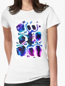 blue and purple abstract watercolor pattern Womens Fitted T-Shirt