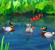 Ducks by Smallbrainfield