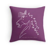 save a horse, free a spirit pillow or tote~ tote or Pillow, Dark Purple Throw Pillow