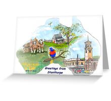 Stanthorpe Qld - Greetings, handpainted on a map Greeting Card