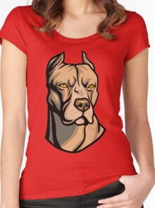 Pit Bull Head Women's Fitted Scoop T-Shirt