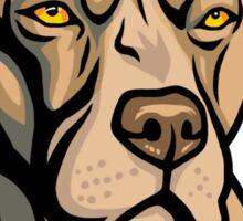 Pit Bull Head Sticker