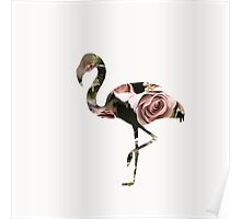 Flower Power Flamingo Poster