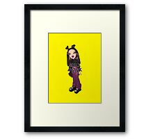 BRATZ DOLL ROXXI MALL PUNK GIRL CYBER GIRL  Framed Print