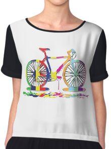 Rainbow bicycle Chiffon Top