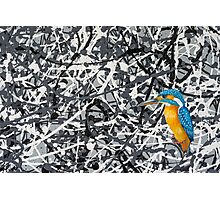 Oil Painting of a Kingfisher Photographic Print
