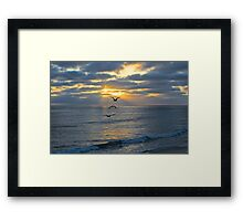 Into the Setting Sun Framed Print