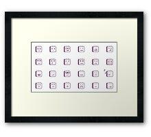 Robot emotions Framed Print
