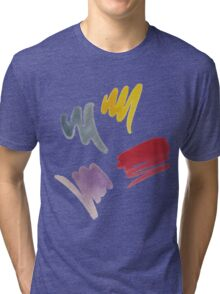 brush doodle small pattern  Tri-blend T-Shirt