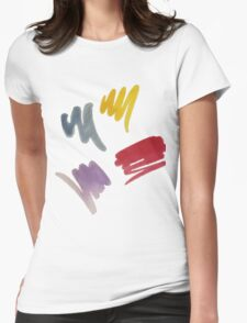 brush doodle small pattern  Womens Fitted T-Shirt