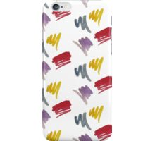 brush doodle small pattern  iPhone Case/Skin