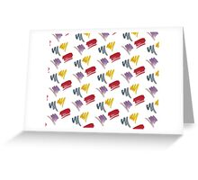 brush doodle small pattern  Greeting Card