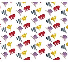 brush doodle small pattern  Photographic Print