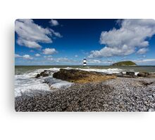 Trwyn Du Lighthouse on the Isle of Anglesey Canvas Print