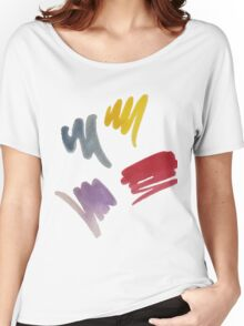 brush doodle large pattern Women's Relaxed Fit T-Shirt