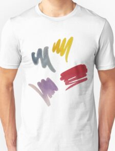 brush doodle large pattern Unisex T-Shirt