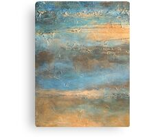COASTAL MORNING Contemporary Abstract Beach Painting Artist Holly Anderson Canvas Print