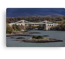 Menai Suspension Bridge, Anglesey Canvas Print