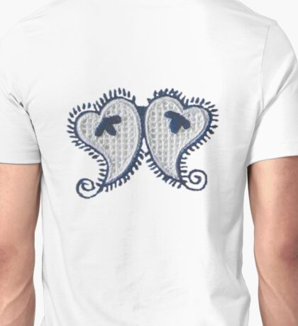 Portuguese Embroidered Twin Hearts Unisex T-Shirt