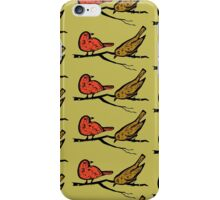 pattern with drawn birds iPhone Case/Skin