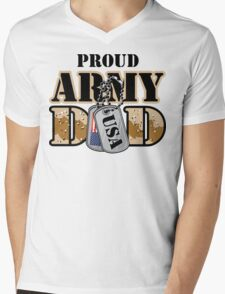 Proud Army Dad Mens V-Neck T-Shirt