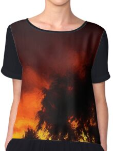 Weeping Tree Silhouette and Sunset 1 Chiffon Top
