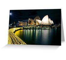 The Other Side - Sydney Opera House - Vivid Sydney Greeting Card