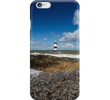 Trwyn Du Lighthouse on the Isle of Anglesey iPhone Case/Skin