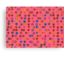 Retro background with circles Canvas Print
