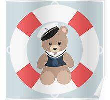 Sailor Bear Poster