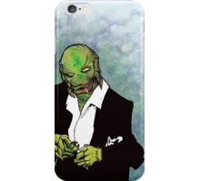 The Creature in Black iPhone Case/Skin