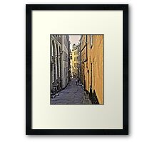 A stroll through Stockholm old town, by Tim Constable Framed Print