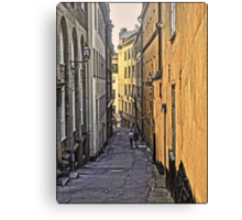 A stroll through Stockholm old town, by Tim Constable Canvas Print